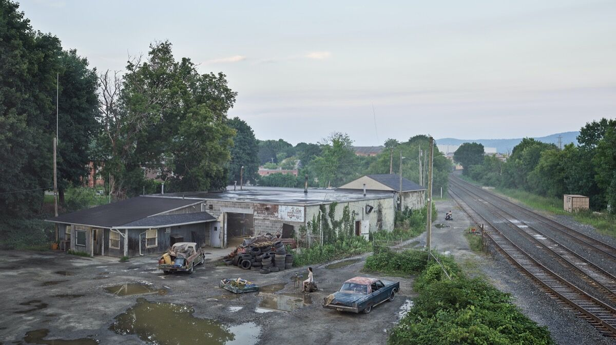 Gregory Crewdson, The Taxi Depot, 2018–19. © Gregory Crewdson. Courtesy of Gagosian.