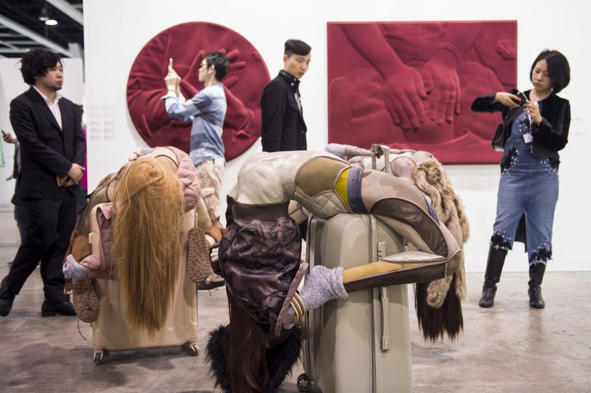 Installation view of Antenna Space and Kraupa-Tuskany Zeidler's booth at Art Basel in Hong Kong, 2017. Courtesy of Art Basel.