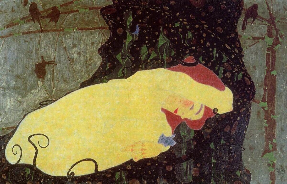 Egon Schiele, Danaë, 1909. Courtesy of The Athenaeum.