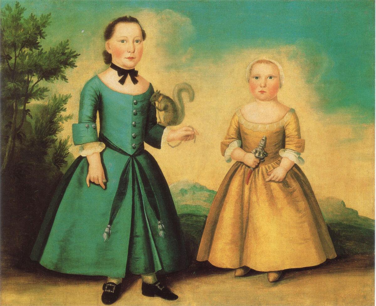 John Badger, Portrait of two children, ca. 1755. Image via Wikimedia Commons.