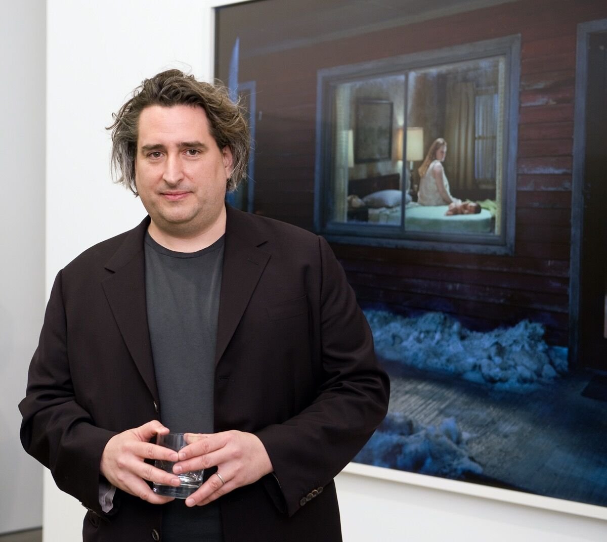 Portrait of Gregory Crewdson at White Cube Gallery, London. Photo by Nick Harvey/WireImage. Image courtesy of Getty Images.