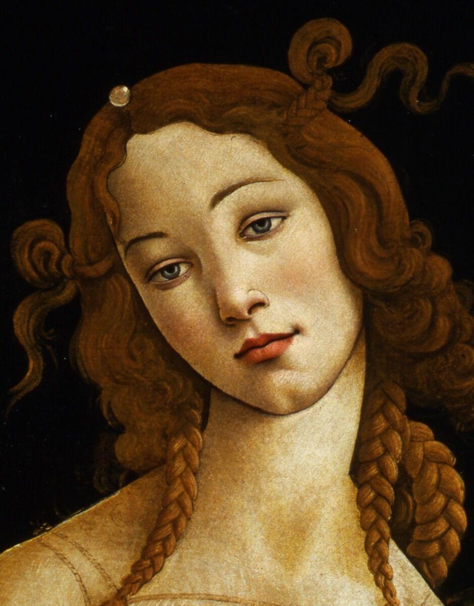 Detail of Sandro Botticelli, Venus, ca. 1484-1490. Galleria Sabauda, Turin. Image courtesy of the Muscarelle Museum of Art & Museum of Fine Arts Boston.