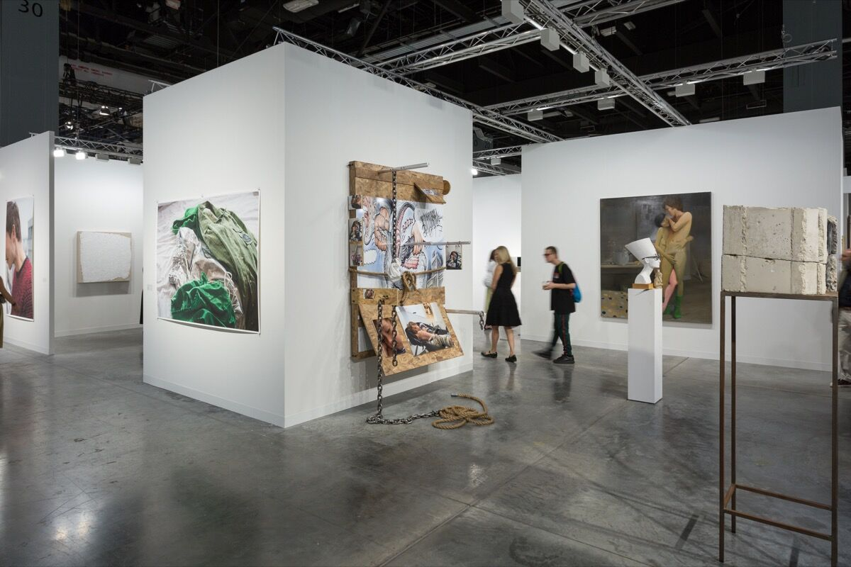 Installation view of David Zwirner's booth at Art Basel in Miami Beach, 2017. Photo by Alain Almiñana for Artsy.