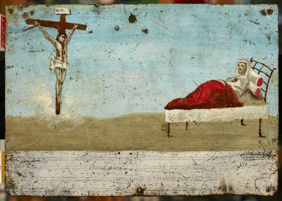 Ex-voto by unknown painter (Mexican, 19th century). Image courtesy of El Paso Museum of Art.