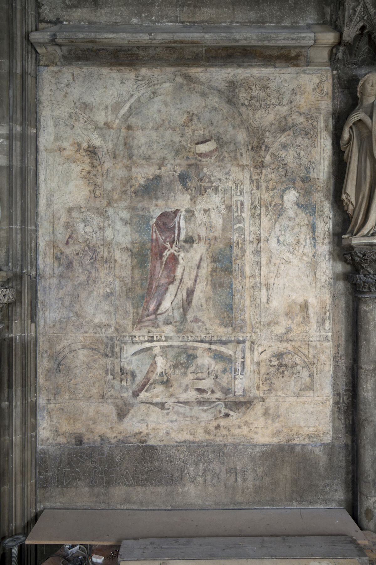 The wall painting at St. Stephen's Cathedral in Vienna that may have been executed by Albrecht Dürer. Photo © Federal Monuments Authority Austria, Vienna, Irene Dworak.