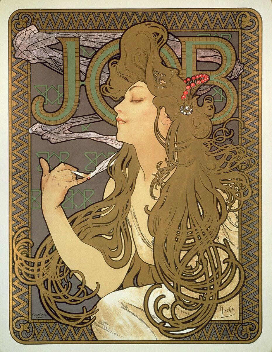 Alphonse Mucha, papier à cigarette (Job), 1896. © Mucha Trust 2018.