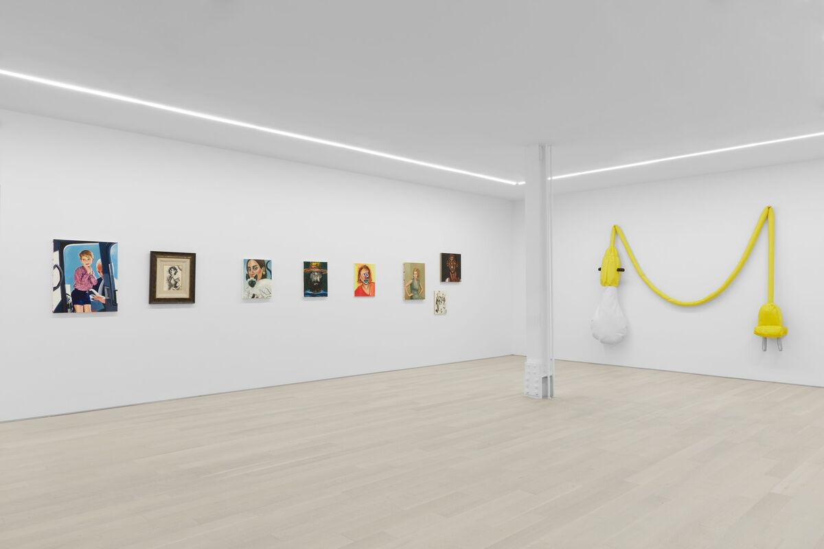 """Installation view of """"Cliché,"""" organized with Bill Powers at Almine Rech Gallery, 2018. Photo by Matt Kroening. Courtesy of Almine Rech Gallery."""