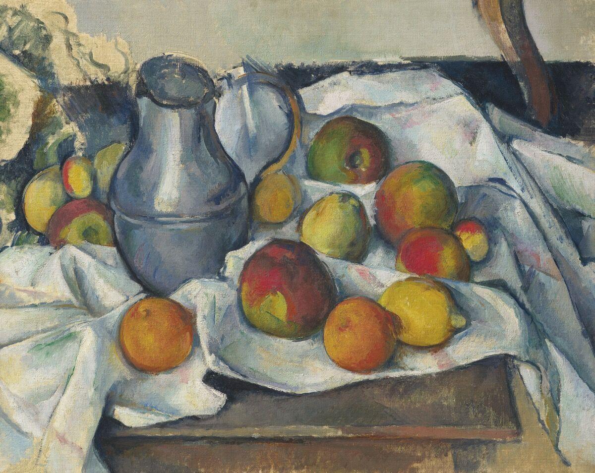 Paul Cezanne, Bouilloire et fruits , 1888–90. Courtesy of Christie's.