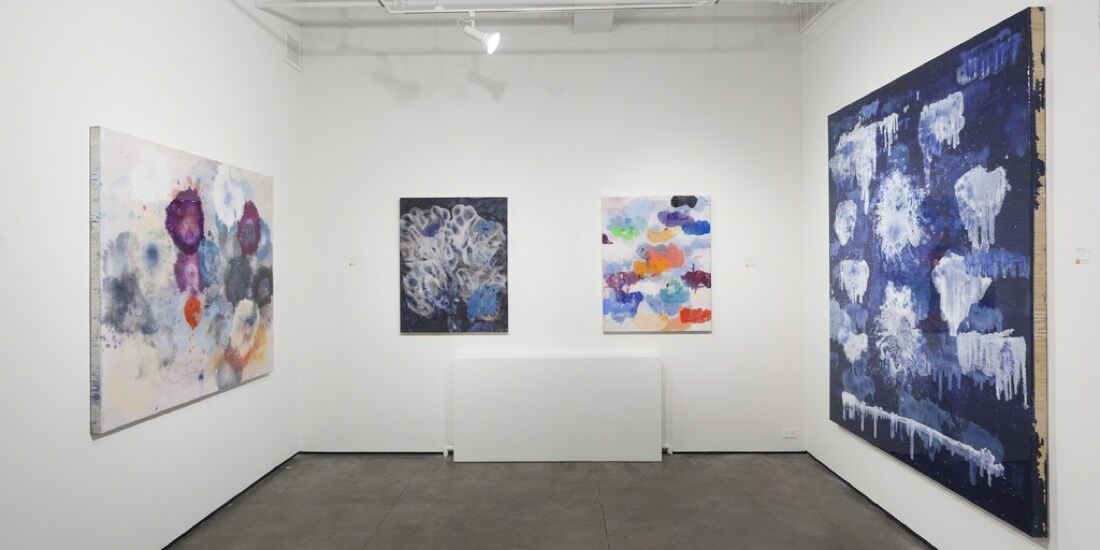 """Installation view of """"I Never Promised You a Rose Garden,"""" 2015. Image courtesy of JanKossen Contemporary."""