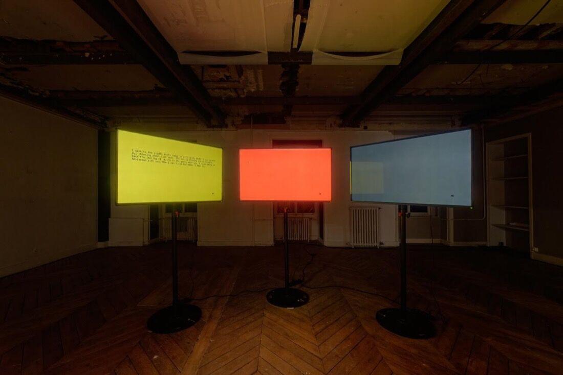 Installation view of LambdaLambdaLambda at Paris Internationale, 2015.Photo byAurélien Mole,courtesy ofParis Internationale.