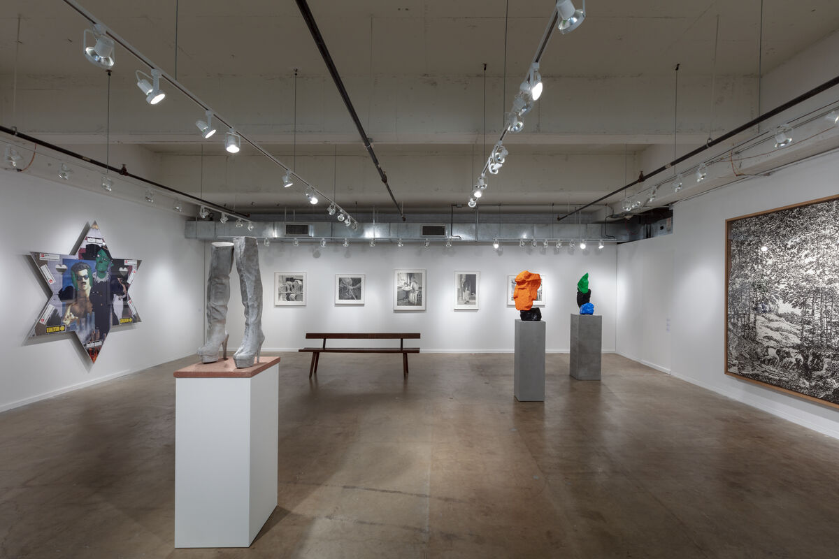 Installation view of Sadie Coles HQ's booth at the Dallas Art Fair, 2019. © The artists. Photo by Kevin Todora. Courtesy of Sadie Coles HQ, London and the Dallas Art Fair.