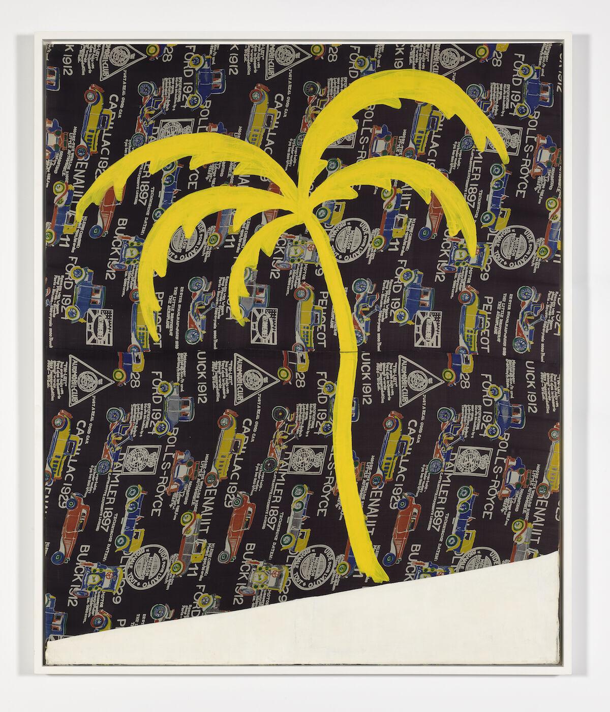 Sigmar Polke, Palme auf Autostoff, 1969. © 2019 The Estate of Sigmar Polke / Artists Rights Society (ARS), New York / VG Bild-Kunst, Bonn, Germany. Courtesy of David Zwirner.