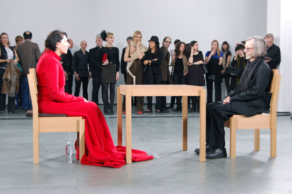 Marina Abramović,The Artist is Present, 2010. Photo by Andrew Russeth via Wikimedia Commons.