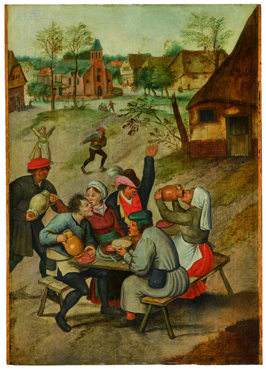 Pieter Brueghel the Younger, A Village Scene with Peasants Carousing, n.d. Courtesy of Sotheby's.