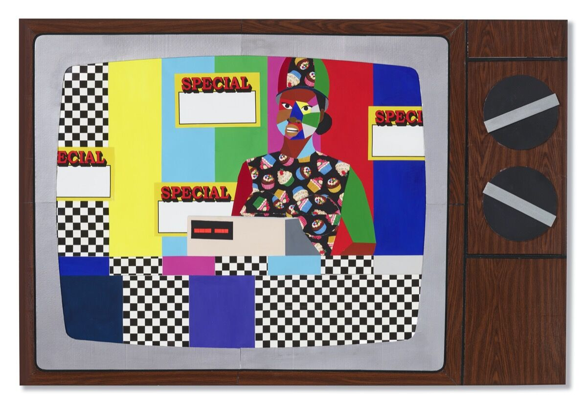 Derrick Adams, They All Want Cake, 2014. Courtesy of Christie's.