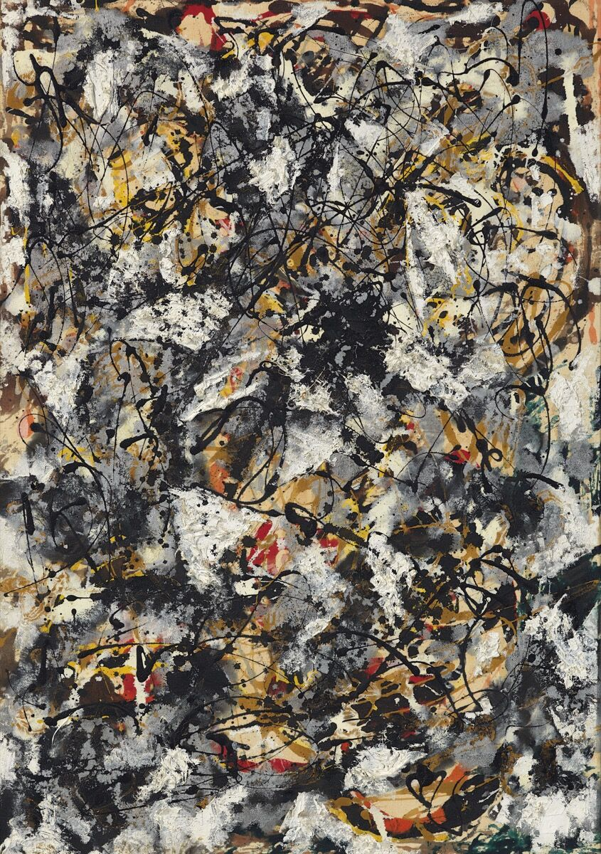 Jackson Pollock, Composition with Red Strokes, 1950. Courtesy of Christie's.