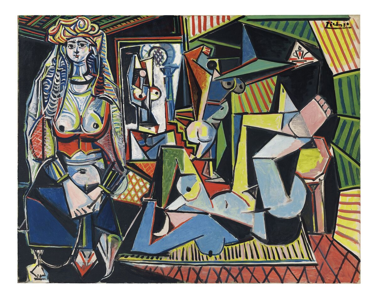 """Pablo Picasso, Les femmes d'Alger (Version """"O"""") (1955), courtesy Christie's Images LTD. 2015,© 2015 Estate of Pablo Picasso / Artists Rights Society (ARS), New York"""