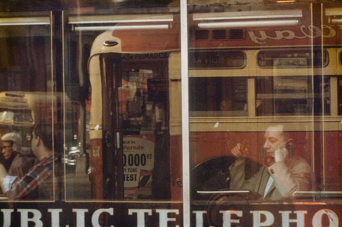 "Saul Leiter, Phone Call, 1957, from ""Early Color.""  Courtesy of Steidl."
