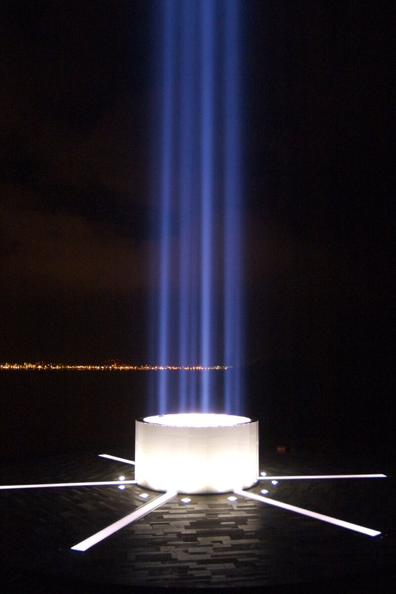 Yoko Ono, Imagine Peace Tower, 2006. Photo by TetsuRo Hamada. Courtesy of the artist and Galerie Lelong.