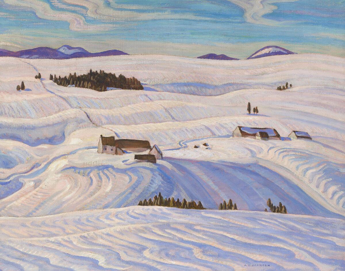 A.Y. Jackson, Laurentian Hills, 1932–33. Est. $C 250,000–350,000. Courtesy Heffel Fine Art Auction House.