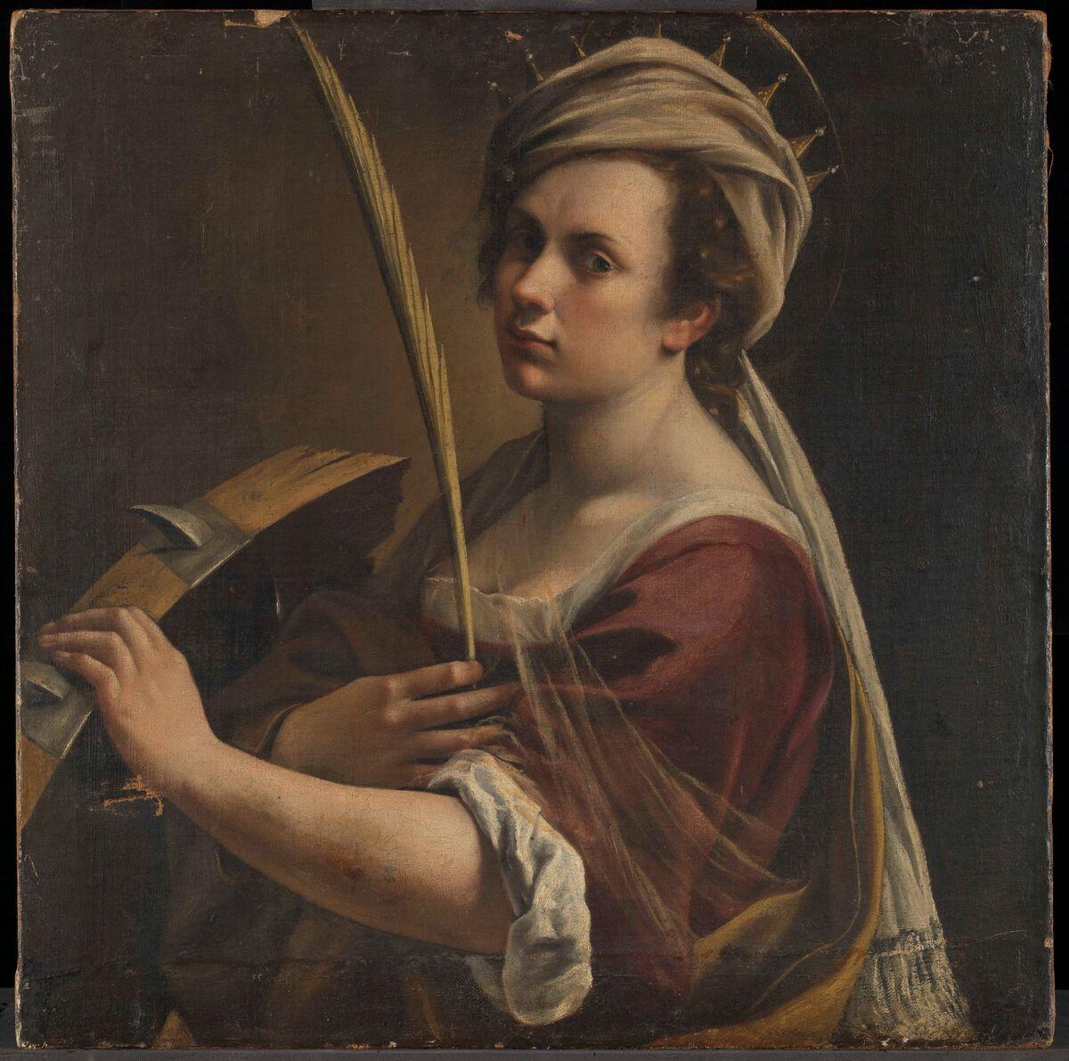 Artemisia Gentileschi, Self Portrait as Saint Catherine of Alexandria, c. 1615–17. © The National Gallery, London.
