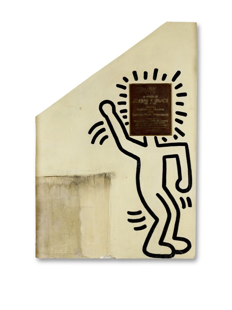 Keith Haring , Untitled (The Church of the Ascension Grace House Mural),  ca. 1983–84. Courtesy of Bonham's.