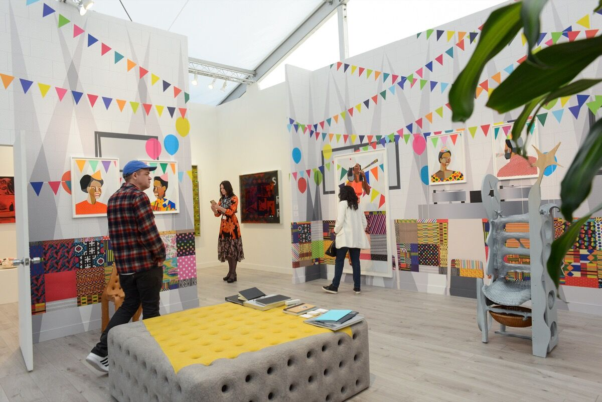 Installation view of Salon 94's booth at Frieze Los Angeles, 2020. Photo by Casey Kelbaugh. Courtesy of Casey Kelbaugh/Frieze.