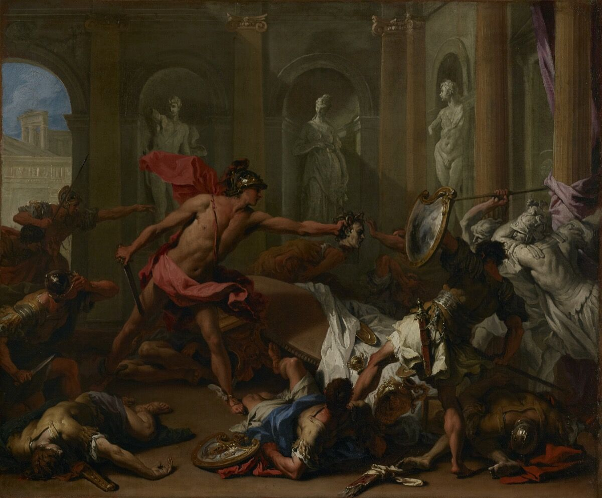 Sebastiano Ricci, Perseus Confronting Phineus with the Head of Medusa, 1705-10. Courtesy of J. Paul Getty Trust.