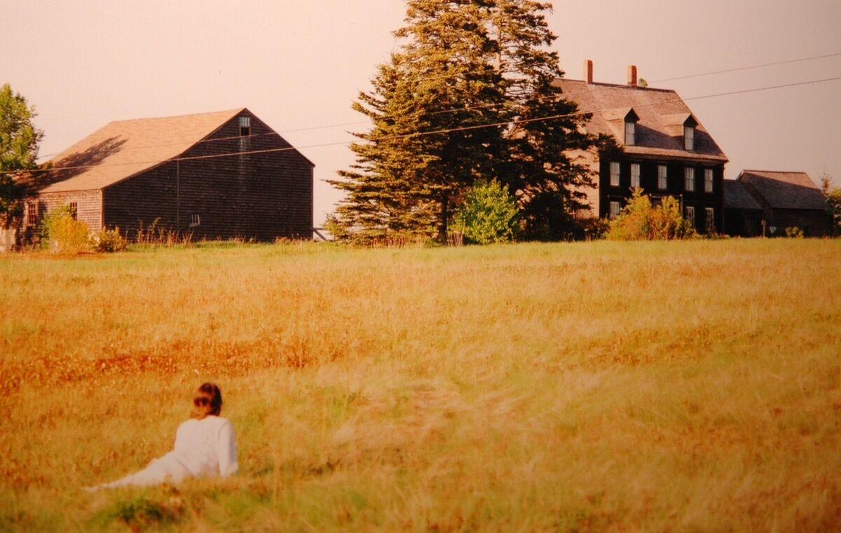 Photographer Alex Thompson's tribute to Andrew Wyeth's Christina's World (1948), taken in 2005 at the site of the Olsons' house in South Cushing, Maine. Photo via Flickr.