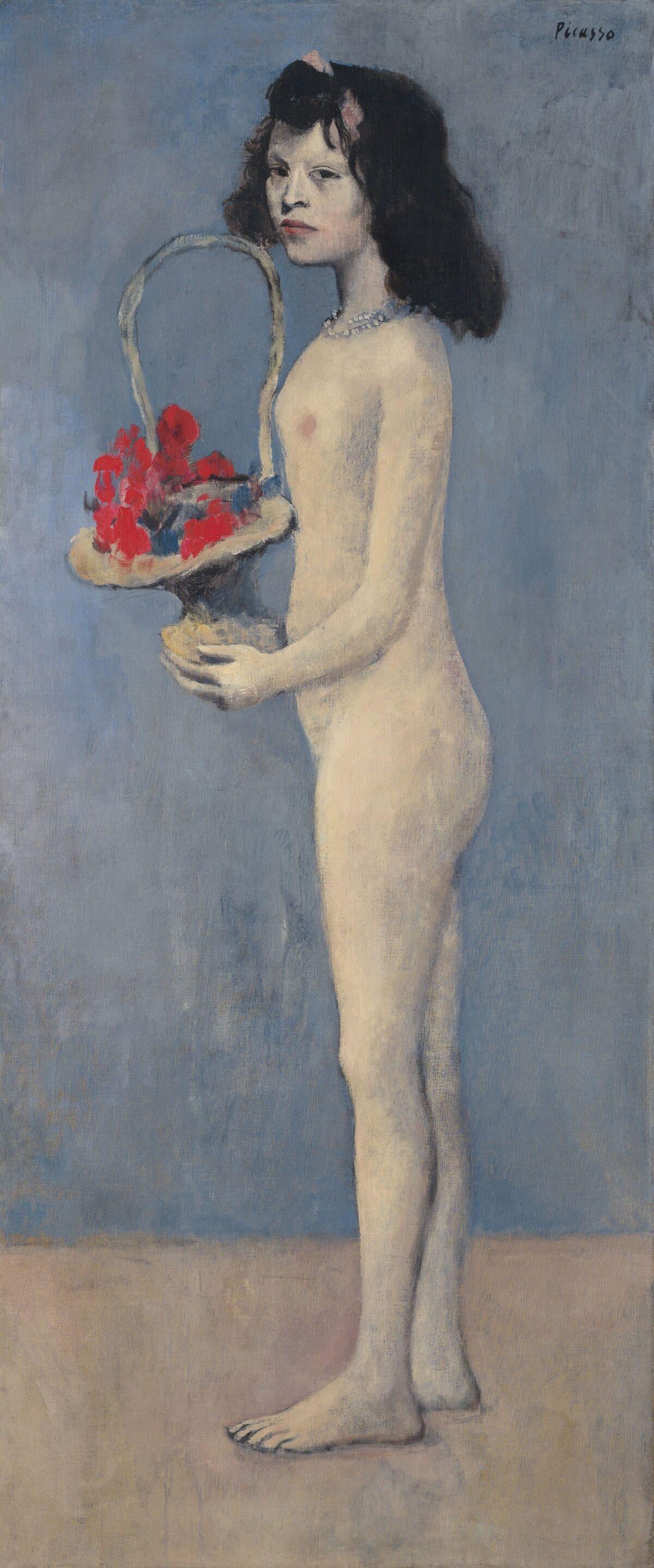Pablo Picasso, Filette à la corbeille fleurie, 1905. © Estate of Pablo Picasso / Artists Rights Society (ARS), New York. Courtesy of Christie's.