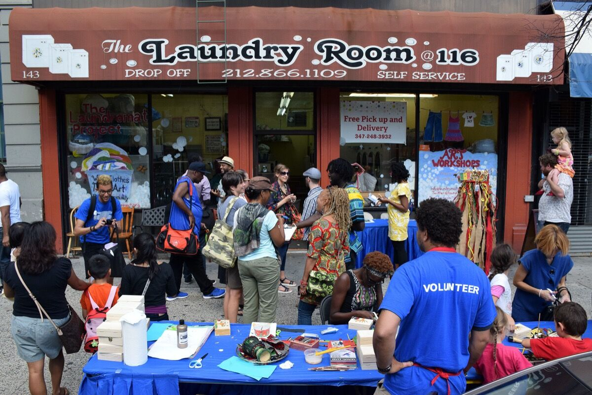The Laundry Project's Field Day Festival in Harlem, 2015. Photo by Ray Llanos. Courtesy of The Laundromat Project.