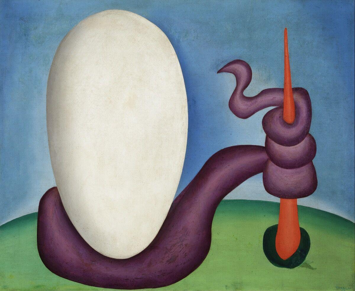 Tarsila do Amaral, Urutu Viper (Urutu). Coleção Gilberto Chateaubriand, Museu de Arte Moderna, Rio de Janeiro. © Tarsila do Amaral Licensing.