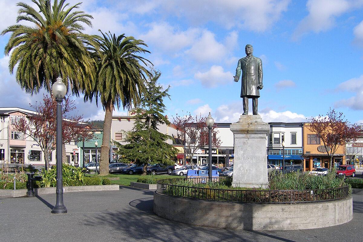 William McKinley statue in Arcata, CA. Photo via Wikimedia Commons.