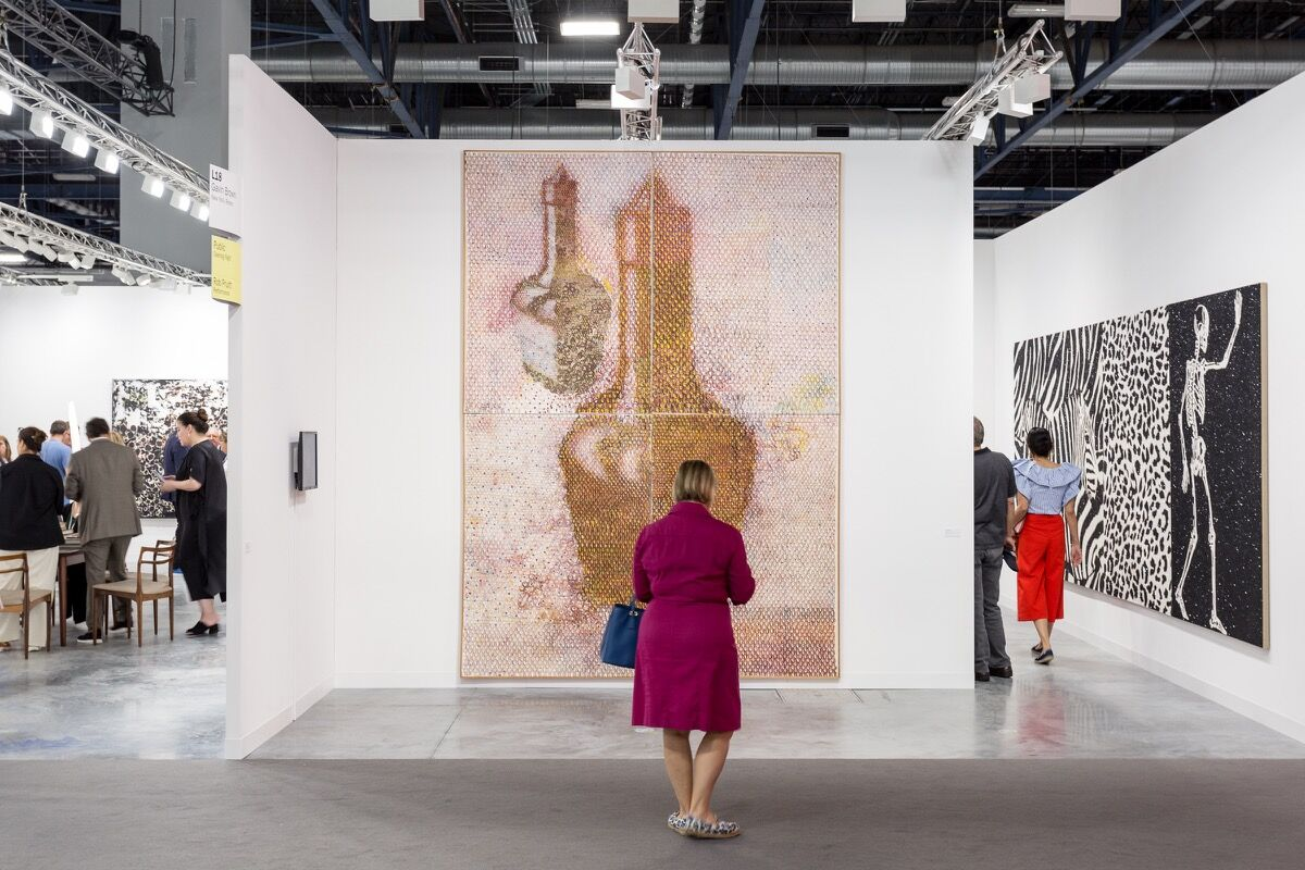Installation view ofGavin Brown's enterprise's booth at Art Basel in Miami Beach, 2016. Photo by Alain Almiñana for Artsy.