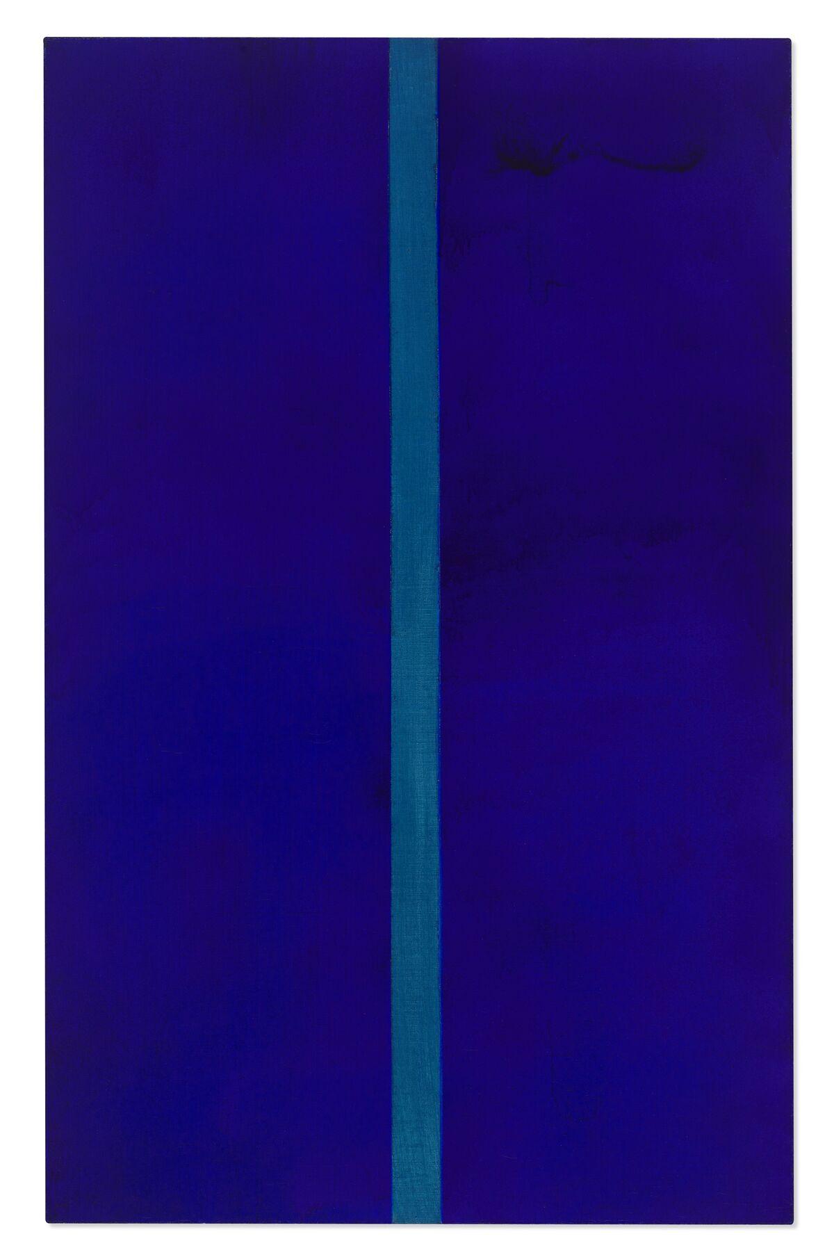 Barnett Newman, Onement V, 1952. Courtesy of Christie's.