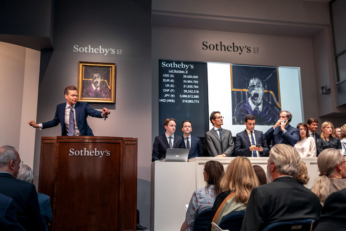 Sotheby's evening sale of post-war and contemporary art in New York in May 2019. Photo courtesy Sotheby's.