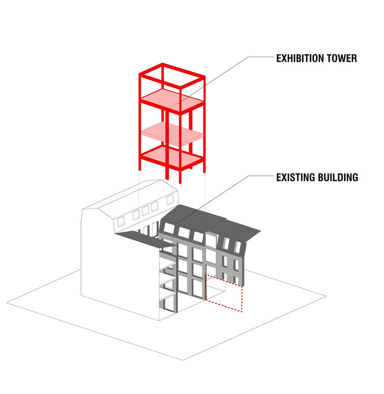 Diagram of the architectural concept, ©OMA. All rights reserved OMA©.