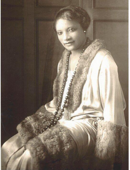 Retrato de A & # x27; Lelia Walker.  Cortesía de los archivos de la familia Madam Walker / A & # x27;  Lelia Bundles