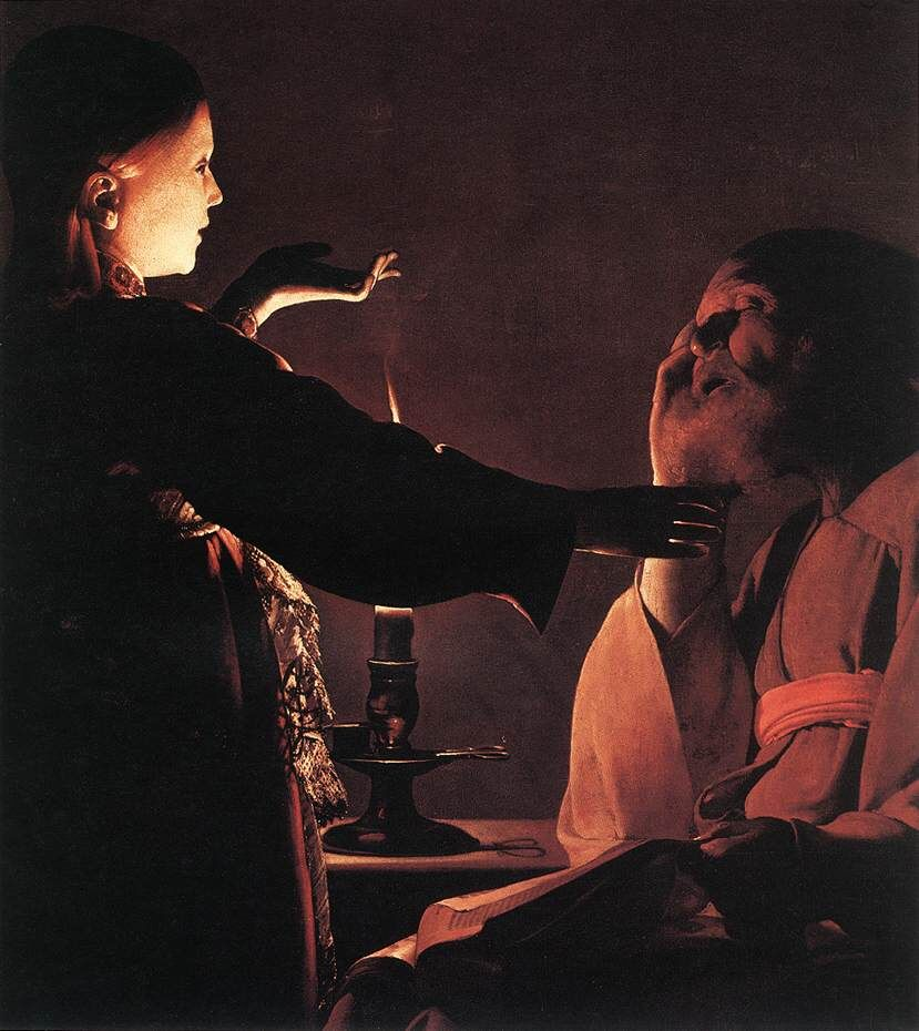Georges de la Tour, Dream of St. Joseph, ca. 1600. Image via Wikimedia Commons.