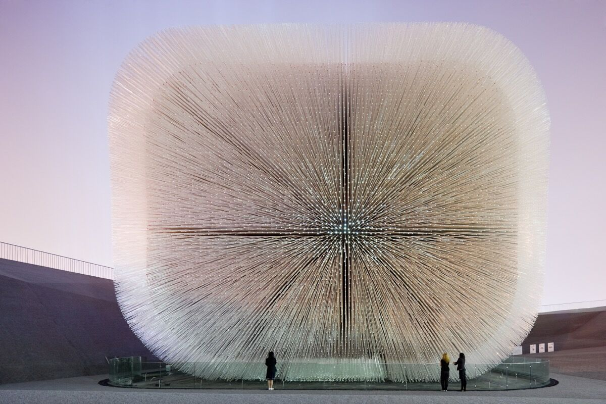 Thomas Heatherwick, Seed Cathedral, UK Pavilion, Shanghai World Expo, 2010. Photo by Iwan Baan. Courtesy of Heatherwick Studios.