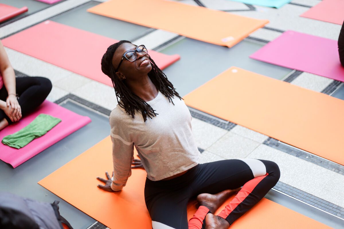 """Art of Yoga"" at the Brooklyn Museum. Photo by Ariana Mygatt. Courtesy of the Brooklyn Museum."