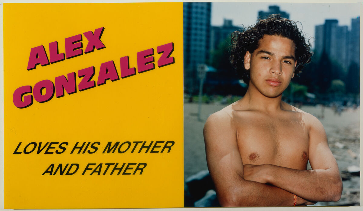 Ken Lum, Alex Gonzalez Loves his Mother and Father, 1989. Photo by Witte de with Center for Contemporary Art, Rotterdam. Courtesy of the artist.