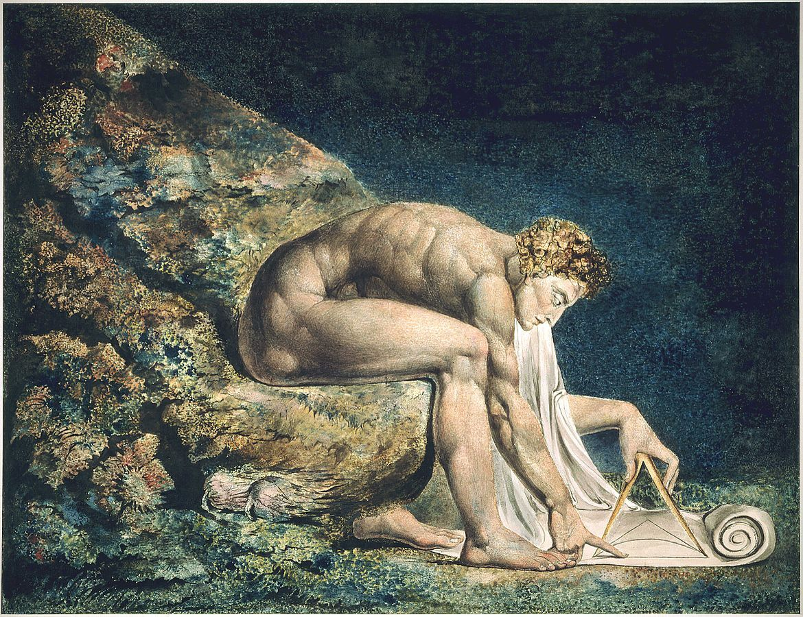William Blake, Newton, 1795-1805. Collection of Tate Britain. Image via Wikimedia Commons.