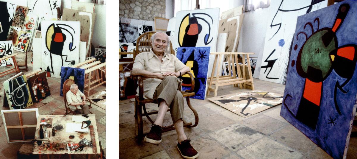 Portraits of Joan Miró in his Majorcan studio, 1978. Photos courtesy of Mayoral Galeria d'Art.