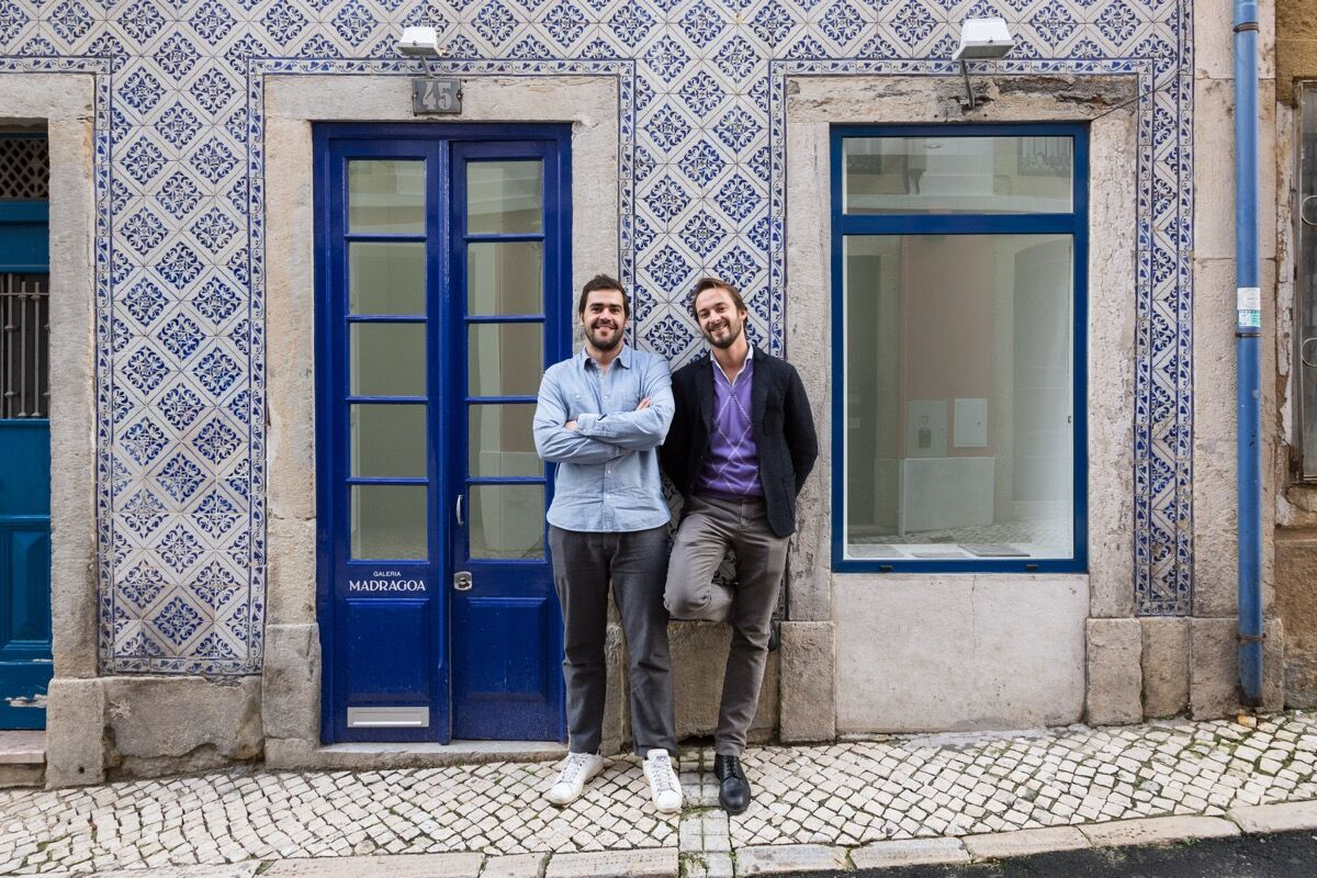 Gonçalo Jesus (left) and Matteo Consonni (right) in front of Madragoa. Photo by Bruno Lopes, courtesy of Madragoa.