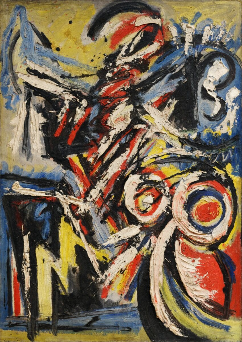 Michael (Corinne) West, Blue Figure, 1948. Courtesy of Hollis Taggart, NY.