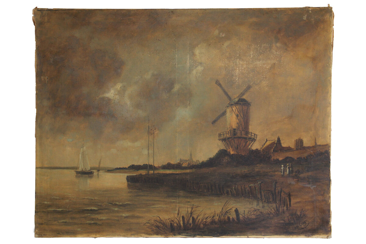 Vincent van Gogh, The Wijk Mill, ca. 1883-85. Courtesy Dechow.