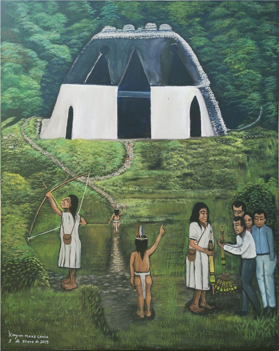 Kayum Ma'ax, El capitalino, 2019. Courtesy of the artist, Galería MUY, and Outsider Art Fair.