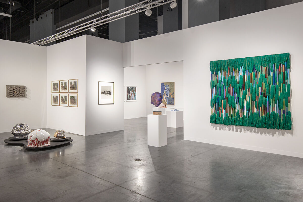 Installation view of Alison Jacques Gallery's booth at Art Basel in Miami Beach, 2019. Photo by Connor Linskey. Courtesy of Alison Jacques Gallery.