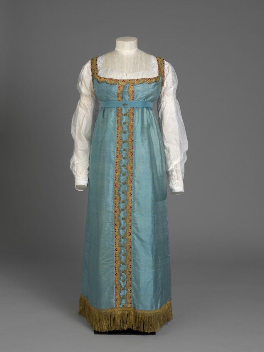 Princess Charlotte's Russian-style Dress, c. 1817. © Her Majesty Queen Elizabeth II 2019.